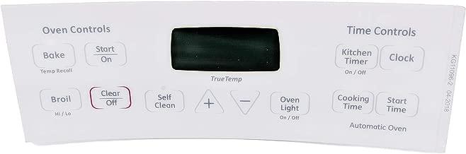 ge oven control panel overlay