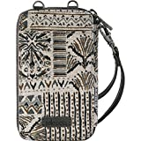 Sakroots Women's, Natural Brave Beauti, 3.5in L x 1in W x 6in H Wristlet Drop: 6.3in, Crossbody Drop: up to 26 inches