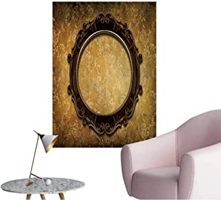 Wall Decals Round Frame on Shabby Wallpaper Environmental Protection Vinyl,16