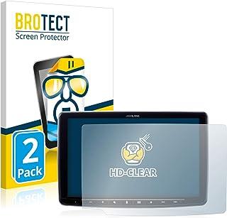 """BROTECT 2x Schermbeschermer compatibel met Alpine iLX-F903D 9"""" Screen protector transparant"""