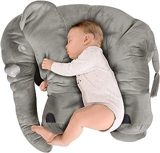 BEEWIES Premium Almohada Para Bebe de Elefante Muy Suave, Bl