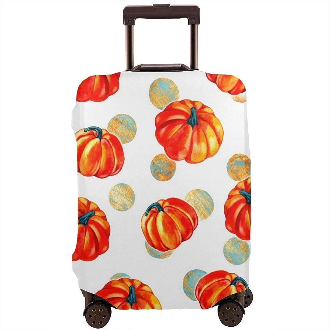 道徳の称賛操縦するスーツケースカバー トランクカバー 防水 伸縮 かぼちゃ オレンジ ファスナー おしゃれ おもしろい かわいい プリント お荷物カバー 防塵 弾力性 旅行 S/M/Lサイズ カバーのみ 着脱簡単 目立つ 紛失防止 個性 YAMAYAGO