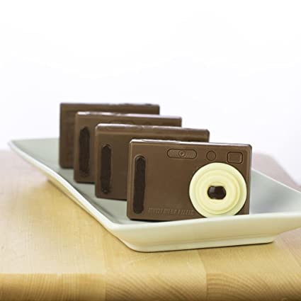Premium Chocolate Con Leche Camera Adorable Novedad Regalo Para Mamá Pintado A Mano Chocolate Figura Tecnología De Fun Para Niños Grocery Gourmet Food