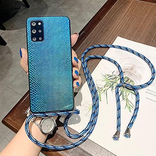 LIUYAWEI Correa Cordón Cadena Funda para teléfono para Samsung Galaxy S21 FE S20 Ultra S10 Note 10 Plus Note 20 Collar Cordón Crossbody Funda con Estampado de Serpiente, Estilo 5, S10 Plus