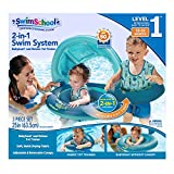 SwimSchool 2-in-1 Swim System, Baby Boat & Tot Trainer, Adjustable Safety Strap, Blueberry