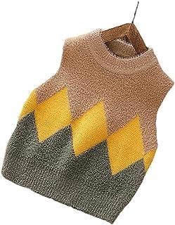 XINNE Niños Chaleco Vest Infantil Cuello Redondo Sweater Jerséis Punto Sin Manga Jersey Pullover