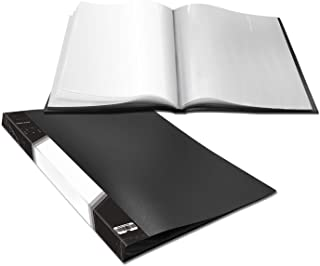 Presentation Book 40 Clear Pockets Sleeves Protectors Art Portfolio Clear Book for Artwork, Report Sheet, Letter (16.5x12.1inch)