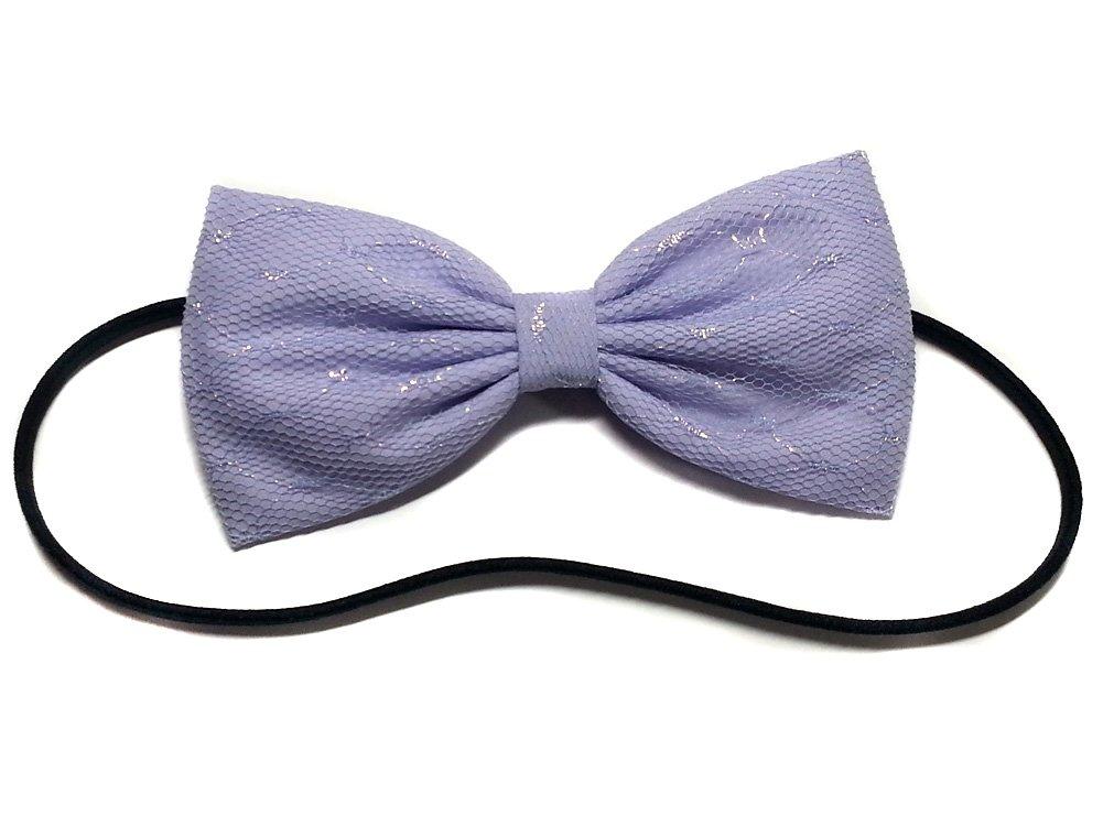 lace hair bow 2.75 inch bow purple lace headband Purple hair bow
