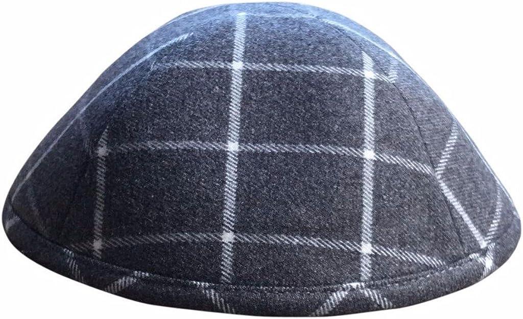 iKippah Pattern 5% Cheap mail order specialty store OFF Grey Plaid Yarmulke