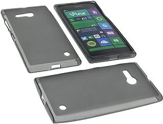 ffb7e69e15f foto-kontor Funda para Nokia Lumia 735 Funda Protectora de Goma TPU para  móvil Gris