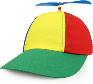 Cotton Adult Multi-Color Propeller Helicopter Unstructured Baseball Cap