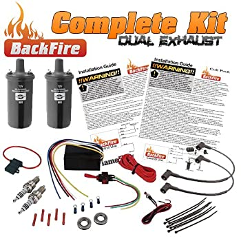 BackFire Dual Universal Automotive Flame Exhaust Thrower Fire Complete Car,Motorcycle,Truck Throwing Kit
