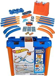 Hot Wheels Track Builder boîte de construction Deluxe, 6 mètres de piste, 2 petites voitures de course incluses, jouet pou...
