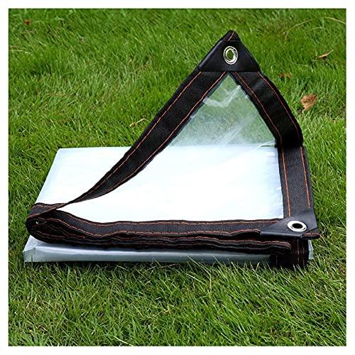N\A ZHANGQINGXIU Lonas Impermeables Exterior,Lonas Transparentes Lona Impermeable Cubierta Impermeable Terraza Viento/Lluvia/Protección Solar con Ojales Película De PVC Suave Antidesgarro De 0,15 Mm,