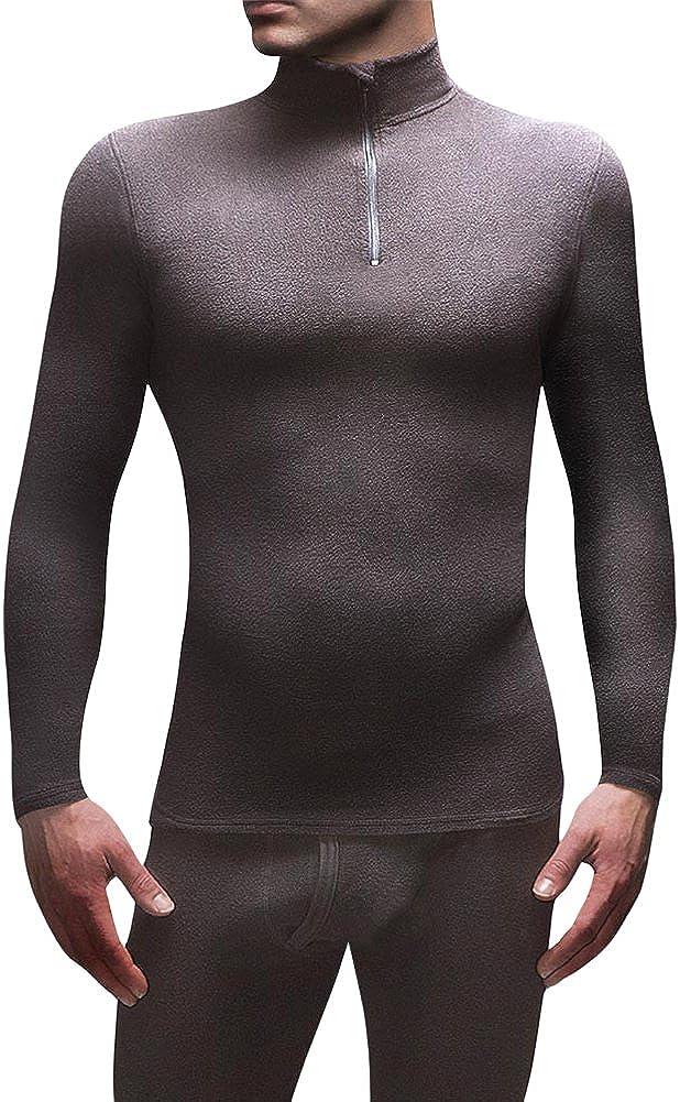 HEAT HOLDERS Men's 0.61 tog Microfleece Thermal Base Layer Long Sleeve Top