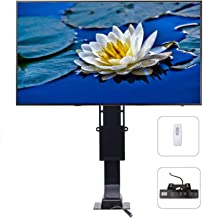 CO-Z Motorized TV Mount Lift with Remote Control for Large Screen 32 Inches to 70 Inches, Height Adjustable up to 72 Inches, Weight Capacity 154 lb. Fast Lift Speed 1 Inch Per Second