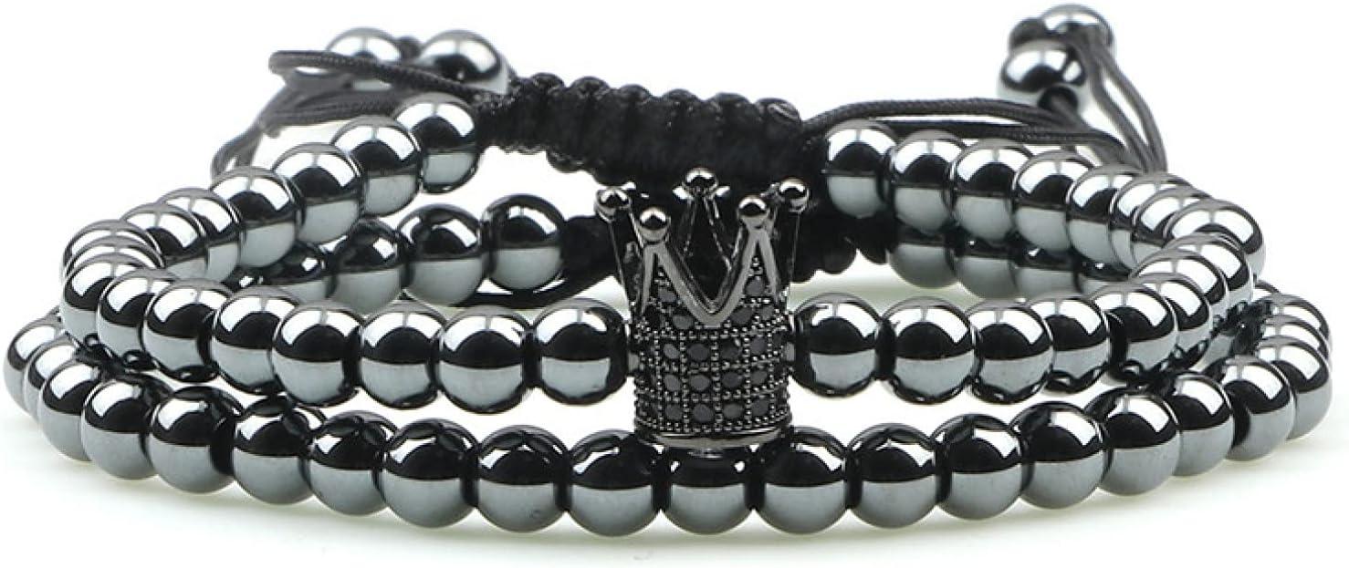 GTHT Men Bracelets Gold Bracelet Set Crown Charm Over item handling ☆ overseas B CZ Copper