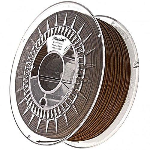 Minadax 0,75kg qualità premium 2,85mm 3mm di legno filamento Natural per stampante 3d prodotto in Europa