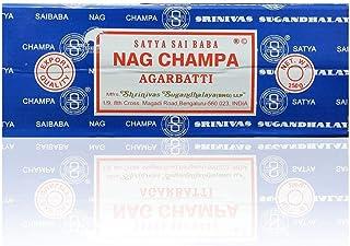 Satya Sai Baba Nag Champa Agarbatti Incense Sticks Box 250gms Hand Rolled Agarbatti Fine Quality Incense Sticks for Purifi...