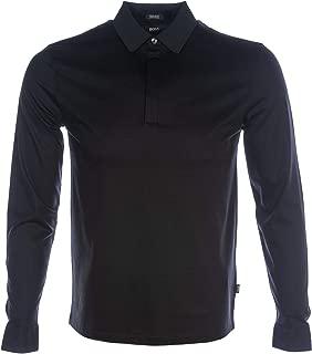 BOSS Phillian 01 Long Sleeve Polo Shirt in Black