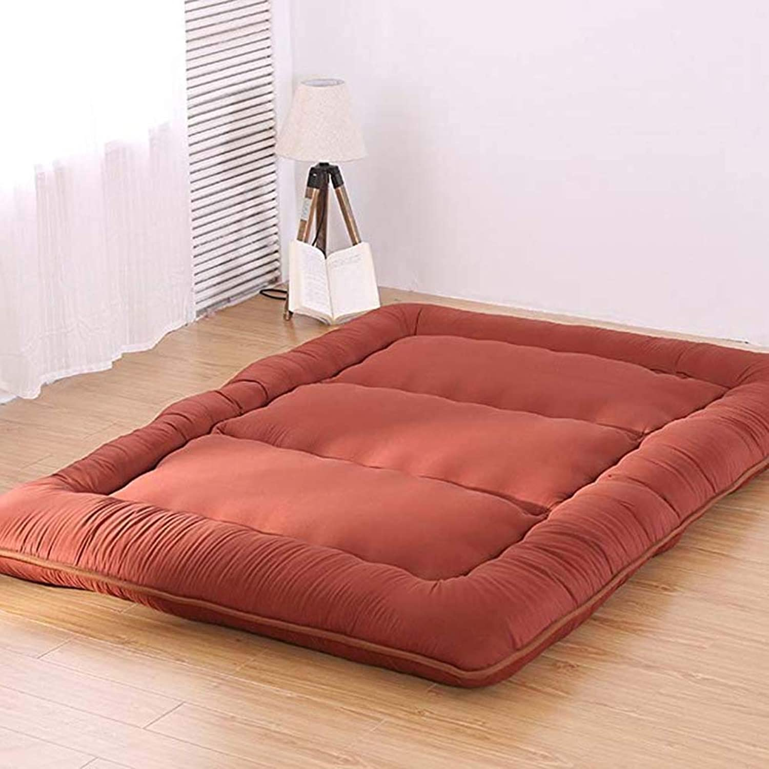 Japanese Thai Floor Rolling Futon Mattresses, Traditional Futon Mattress, Foldable Roll Up Mattress, Foldable Cushion Mats, Yoga,D,150x200cm(59x79inch)