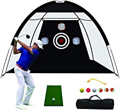 TTCB Sports Golf Hitting Net, Golf Practice Net with Chiping Net, Accessories Including Swing Corrector and Golf Practice ...