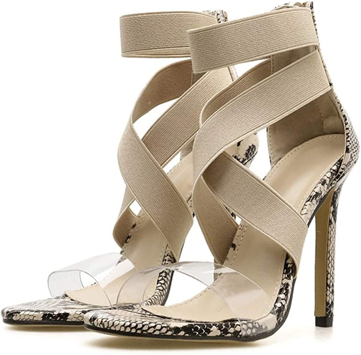 Women shoes High Heeled Summer Sandals Heels Women Party shoes Casual Sexy Pumps Beach Sandals Plus Size 35-39