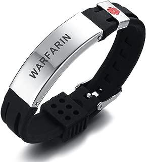 MEALGUET Personalized Engraving Silicone Comfort Sport Wristband Emergency Medical Alert ID Bracelet for Men Women Kid