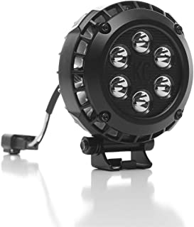 "KC HiLiTES 300 4"" Round LZR LED Black 24w Driving Light - Pair Pack System with Wiring Harness"