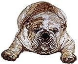 Amazing Custom Dog Portraits [English Bulldog ] Embroidery Iron On/Sew patch [5.16' x 4.54'][Made in USA]