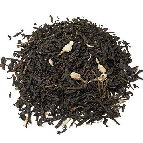 Aromas de Té - Té Verde al Jazmín - Con Té Verde, Fresas Liofilizadas, Brotes de Jazmín, Pétalos de Rosa y Aromas - Calmante Natural - Sin Gluten - 100 gr