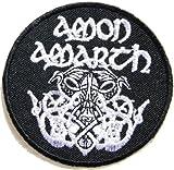 "3"" x 3""AMON AMARTH Odin Death Music Band Heavy Metal Rock PunkLogo jacket T shirt Patch Iron on Embroidered music patch on Embroidered music -"