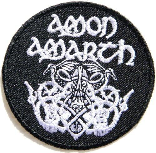 7,62 cm x 7,62 cm Odin Death AMON AMARTH customstyle Heavy Metal Rock PunkLogo chaqueta T-Shirt bordado parche para ropa en música y parche con escudo en bordado de música