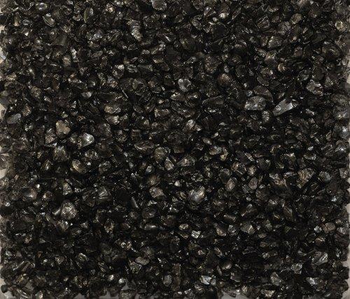 Eurosand GLASNUGGETS 2-4mm. Dekoglas. Kleine Glassteine, Glasgranulat. 1 kg. SCHWARZ -94