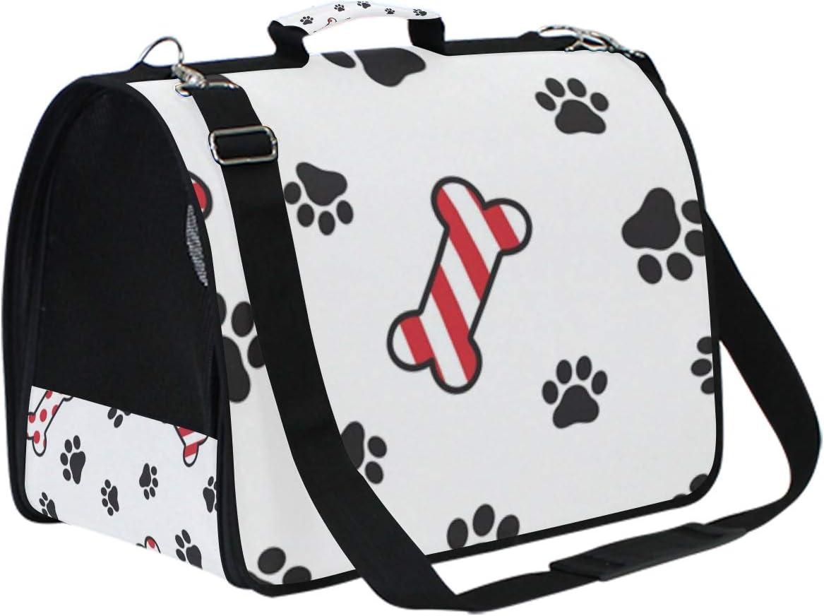 Tarity Dog Paw Christmas Bone Translated Soft App Popular popular Pet Carrier Sided Airline