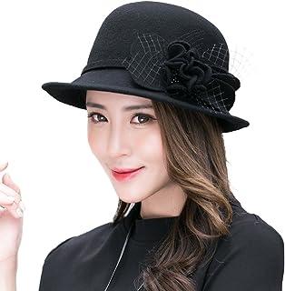 Siggi 100% Wool Bell Hat Warm 1920s Vintage Cloche Bucket Hat Ladies