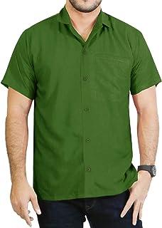 LA LEELA - Camicia hawaiana a maniche corte, da uomo