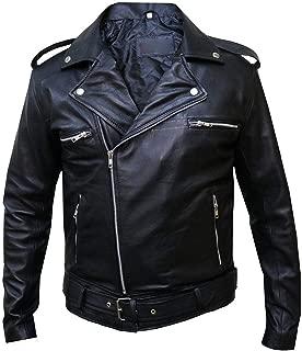 The Walking Dead Jeffrey Dean Morgan Negan Black Leather Jacket, XXS-3XL
