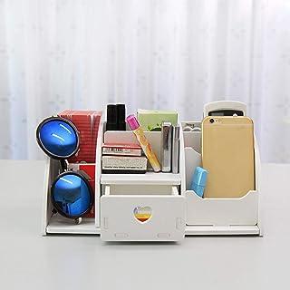 Cosmetische Opbergdoos, Make-updoos Met Lade Desktopkast Desktoporganisator (met 6 Compartimenten) Pen & Sieradenorganisat...