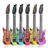 The Glowhouse Inflable inflables Instrumentos Musicales Guitarra saxofón del Partido para el micrófono favores de Globos Color al Azar (4 Guitarras)