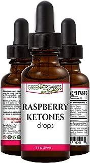 Green Organics Raspberry Ketones Weight Loss Liquid Formula (250mg Daily, 2 Fl Oz)