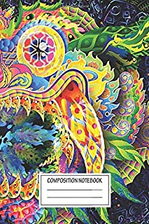 Notebook: Barong Bali Demon Psychedelic Trippy Art , Journal for Writing, Size 6