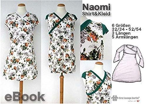 Naomi Nähanleitung mit Schnittmuster für Shirt & Kleid in 6 Größen, 3 Längen, 5 Armlängen von Gr. XS-XXL [Download]