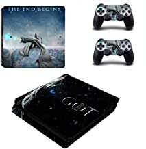 Homie Store PS4 Pro Skin - Ps4 Skins - Ps4 Slim Sticker - Game of Thrones Winter is Coming PS4 Slim Skin Sticker for Playstation 4 Console and Controller Decal PS4 Slim Sticker Vinyl