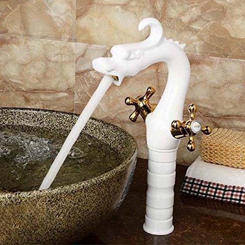 LINA-Europäische Drachenkopf malen hochpräzise Kupfer Badewanne Wasserhahn