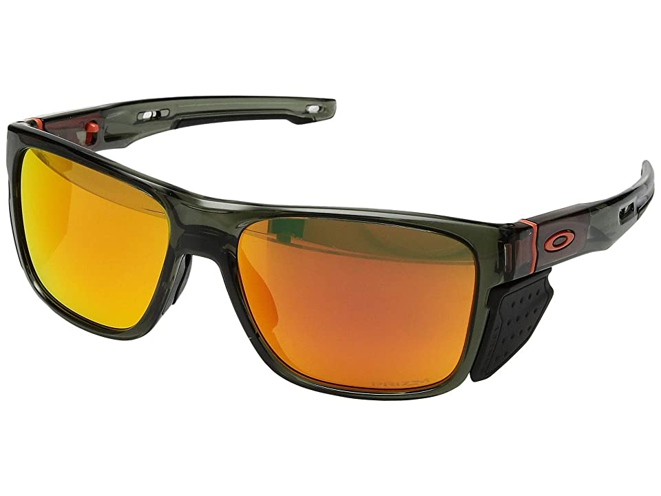 Oakley Crossrange (TDF Matte Grey Smoke w/ Prizm Road) Fashion Sunglasses
