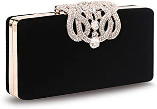 Crystal Diamante Clutch Bag, Womens Fashion Designer Evening Bag Ladies Bridal Wedding Party Purse Handbag