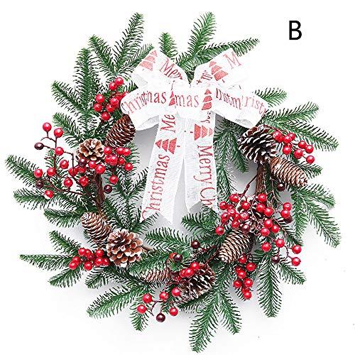 Dekorative Kleine Girlande, Kleine Rote Fruchtgirlande Weihnachtsdekoration, Geeignet Für Einkaufszentrum Hoteltüren Und Fensterbehänge-größe 40 Cm,B
