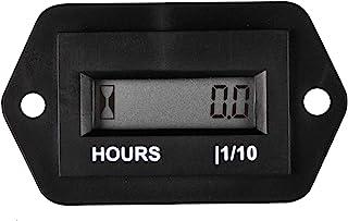 Runleader Medidor de horas LCD digital, CC de 4.5V a 90V, total de horas reiniciable,uso para cortacésped ZTR Tractor Generador Carro de golf Club club Scrubber Marina ATV Compresor (DC4.5-90V)