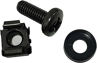 Lancher 60-Pack M6 x 16mm Screws and Cage Nuts for Server Shelf Cabinets Rack Mount 1U 2U 6U 12U Rack Screw cage nut - Black